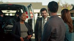 "Shut Eye 1x01 ""Death"" - Charlie Haverford (Jeffrey Donovan), Linda Haverford (KaDee Strickland), Gabriella (Sonja Sohn) & Kevin (Darcy Laurie)"