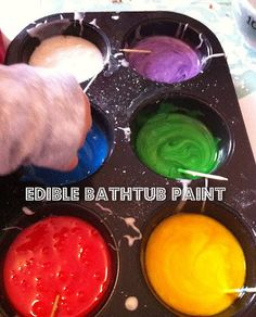 Edible Bathtub Paint