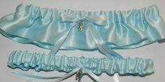 Blue Wedding Garter Set Bridal Garter Set by WeddingGarterStore, $15.99