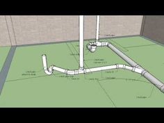 Basement bathroom layout with rough-in drain and vent. A virtual tour. Small Basement Bathroom, Bathroom Drain, Bathroom Layout, Bathroom Ideas, Bathrooms, Bathtub, Plumbing Drains, Bathroom Plumbing, Plumbing Pipe