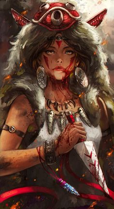 Princess Mononoke - Created by Sia Soffa