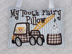 Tooth Fairy Pillow In The Hoop Embroidery Design by LunaEmbroidery,