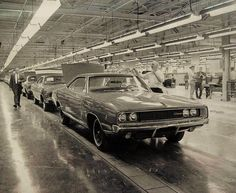 Dodge Chargers on the assembly line
