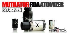 Original Design Mutilator RDA Rebuildable Atomizer by Cigreen ( Vape Shop Online, Vape Juice, Electronic Cigarette, Vaping, Good Things, Design, Vaping Mods, Electronic Cigarettes, Vape