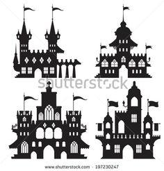 Castle Vector Set A - stock vector