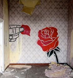 Graffiti con cinta adhesiva: el arte callejero en asfalto y paredes de Buff Diss (FOTOGALERÍA) | Arte Callejero