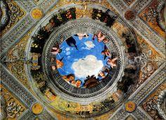 Particolare della Camera degli Sposi del Castello di San Giorgio a Mantova, affrescata da Andrea Mantegna, databile al 1465-1474.
