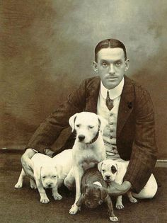 a man and his dogs