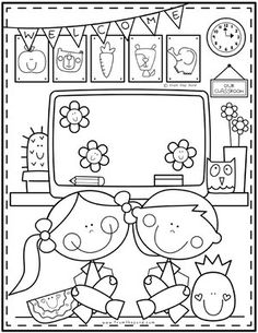 Kids — Pond Coloring Club I Love School, Back To School, Cute Coloring Pages, Space Party, Color Club, Crazy Kids, Valentines For Kids, House Colors, Happy New