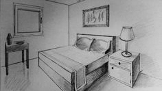 2 Point Perspective Bedroom, 1/30/17.