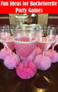 45 ideas baby shower party favors girl wine for 2019 Decorated Wine Glasses, Painted Wine Glasses, Wine Glass Crafts, Bottle Crafts, Nye Party, Party Time, Pink Parties, Birthday Parties, Spa Birthday