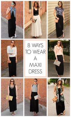 The Versatile Maxi - Penny Pincher Fashion Plain black maxi dress Fashion Mode, Modest Fashion, Look Fashion, Fashion Beauty, Fashion Outfits, Fashion Tips, Mode Chic, Mode Style, Summer Outfits