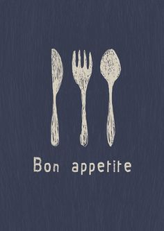 Bon appetite. via Etsy.