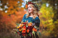 Model photoshoot, russian autumn