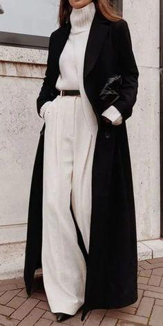 Blog da Mari Calegari 30 looks para encarar os dias frios de inverno - Blog da Mari Calegari Winter Fashion Outfits, Look Fashion, Fall Outfits, Fashion Coat, Cute Casual Outfits, Stylish Outfits, Casual Ootd, Looks Chic, Elegant Outfit