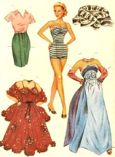Grace Kelly Paper Dolls -