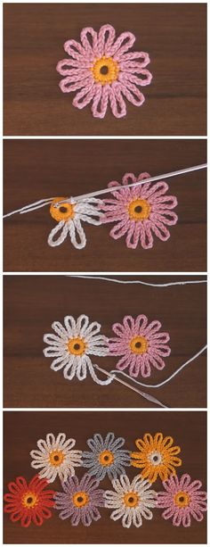 Easy Crochet Flower Tutorials are so pretty! They may look simple but they can jazz up any plain old beanie, headband and bags and they are quick to make. # crochet flowers Easy Crochet Flower Tutorials - Learn to Crochet - Crochet Kingdom Crochet Flower Tutorial, Crochet Flower Patterns, Crochet Flowers, Crochet Leaves, Easy Crochet Flower, Crochet Ideas, Crochet Flower Headbands, Flower Diy, Flower Ideas
