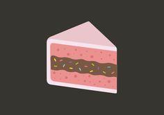 Pink Cake Vector Illustration Cake Illustration, Flat Design Illustration, Food Illustrations, Graphic Illustration, Cake Vector, Sushi Cake, Cake Icon, Cake Drawing, Visual Communication Design
