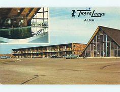 Travel Lodge, Alma, MI Postcard, ca. 1970's