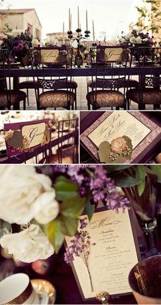 40 Glamorous Dark Purple Wedding Inspirational Ideas | Weddingomania