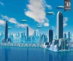 Las ciudades del futuro New York Skyline, Travel, Smart City, Futuristic City, Proposals, Future Tense, Cities, Creativity, Viajes