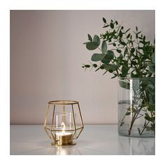 PÄRLBAND Tealight holder IKEA Use the tealight holder with a lit tealight or alone, as a beautiful object in its own right. Ikea Candle Holder, Small Candle Holders, Geometric Candle Holder, Tealight Candle Holders, Candleholders, Tea Light Candles, Tea Lights, Ikea Candles, Decorative Accessories