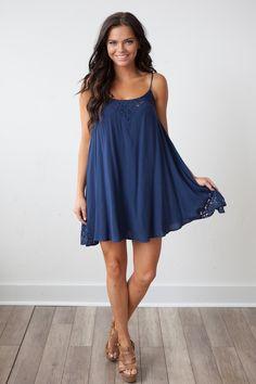 Magnolia Boutique Indianapolis - Night Cap Lace Detail Dress - Navy, $34.00 (http://www.indiefashionboutique.com/night-cap-lace-detail-dress-navy/)