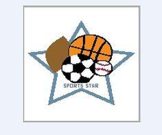 Crochet graph pattern Boy collection sports