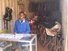 Fahrräder für Afrika - Fahrradwerkstatt in Sambia