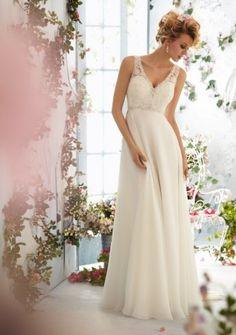 Minőségi  v-nyakú  Romantikus  esküvői ruha ,menyasszonyi ruha ingyen méretre készítve 4-16+++ 5685klkll5644ll