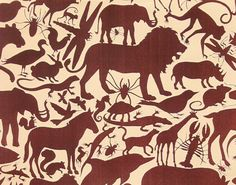 Animal Kingdom-  Alexander Henry 1 Yard Fabric via Etsy