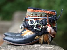 Boho cowboy boots from TheLookFactory on Etsy