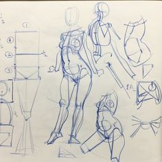 I do a lot of basic construction demos early in the term. From my Inventive Drawing class at ArtCenter in Pasadena, CA. Male Figure Drawing, Figure Sketching, Figure Drawing Reference, Anatomy Reference, Art Reference Poses, Human Anatomy Drawing, Gesture Drawing, Anatomy Art, Drawing Poses