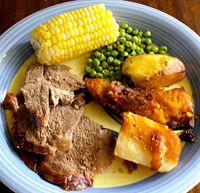 4 Popular Foods of New Zealand: Lamb Dinner New Zealand Food And Drink, Club Sandwich Recipes, Guatemalan Recipes, Lamb Dinner, Sushi Lunch, Homemade Sushi, Lassi, Thinking Day, Pavlova