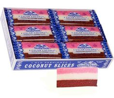 <p>Many of us remember these 'Original Classic' coconut slices from our childhood, whether the adults were secreting them away for themselves or sharing in their soft, fresh deliciousness. Neapolitan coconut candy has been delighting coconut fans for years, with just the right amount of strawberry, chocolate and vanilla in each bar. Candy Farm 3 color coconut is the one you know and love, from a company that began over 115 years ago! </p> <ul> <li>24 individually wrapped coconut candy bars…