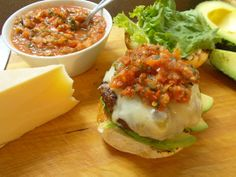 Another close up of the Smoked Salsa and Avocado Burger #tasty #food #cooking #recipe