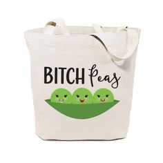 Cotton Canvas Bitch Peas Tote Bag – The Cotton and Canvas Co.