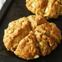 Cinnamon apple scones are my new favorite way to start the morning. They only take about 45 minutes to prepare.