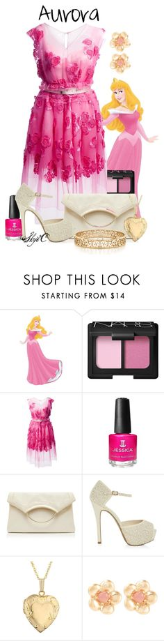 """Princess Aurora - Prom - Disney's Sleeping Beauty"" by rubytyra ❤ liked on Polyvore featuring NARS Cosmetics, Marc Jacobs, Jessica, Forever New, Reeds Jewelers, Sence Copenhagen, Tiffany & Co., disney, sleepingbeauty and aurora"