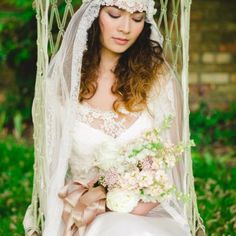 Lace wedding dress by Dana Bolton