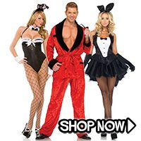 Playboy Group Costumes - All Group Costumes via TrendyHalloween.com #trendyhalloween #halloween #halloweencostumes #costumes #playboy