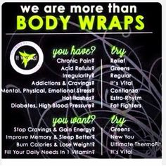 Have y'all heard about that crazy wrap thing!? It Works products that are ALL NATURAL and BOTANICAL!!! Order now as a loyal customer for 40% off now!!!! mpeters1314.itworks.com