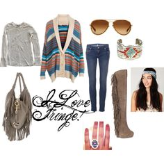 """""""Fringe Love"""" by erin-butcher on Polyvore. I love the boots!"""