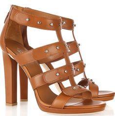 b4ec97f5f4c734 Gucci Sigourney Leather Studded Sandals Studded Sandals