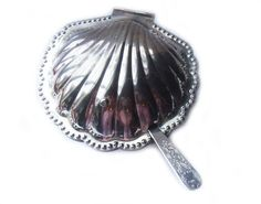 Vintage Silvertone Clam shell Seashell Serving Dish by BreatheDecor, $20.00