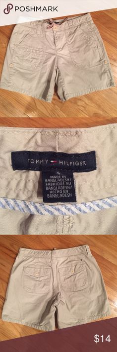 Like new Tommy Hilfiger shorts Like new - excellent condition. Tommy Hilfiger khaki shorts with large pockets and draw string waist. Tommy Hilfiger Shorts
