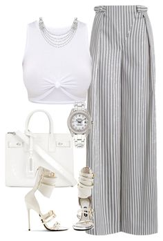 Untitled #720 by iloveivonne on Polyvore featuring polyvore fashion style Zimmermann Yves Saint Laurent Rolex Garrard Tom Ford clothing
