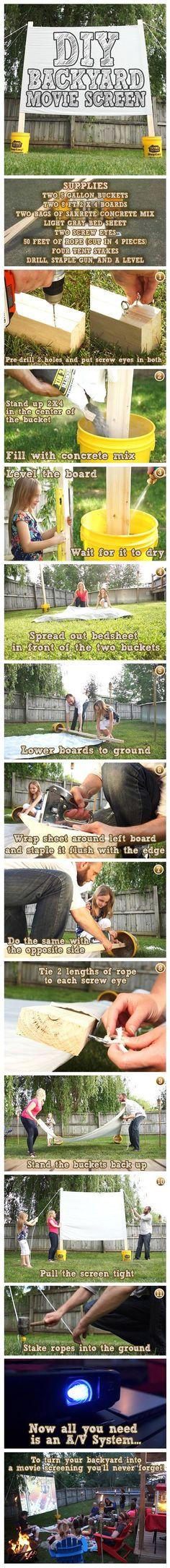 Build Your Own DIY Backyard Movie Screen For Guaranteed Summer Fun