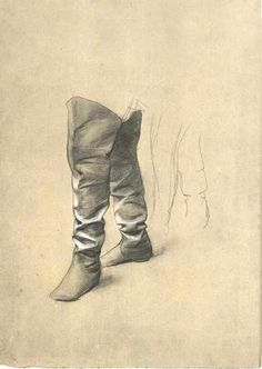 """""""Study of Boots"""", Gustav Klimt .xx."""