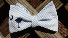South Carolina Palmetto Tree Seersucker Bow Tie